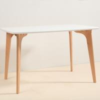 百思宜 餐桌现代简约饭桌欧式北欧小户型奶茶店简易方桌长桌 120*80白色