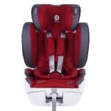 奇蒂Kiddy德国汽车儿童安全座椅全能者FIX 9个月到12岁ISOFIX+安全带通用 酒红色
