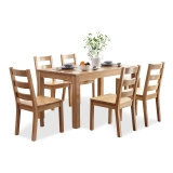 中伟餐桌实木餐桌桌椅组合
