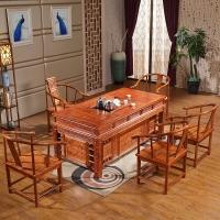 中伟实木茶桌功夫茶桌中式茶几桌实木茶台桌椅组合1800*900*780