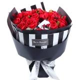 I'M HUA HUA21朵红色香皂玫瑰花束礼盒七夕情人节礼物生日纪念日礼物送女生女友