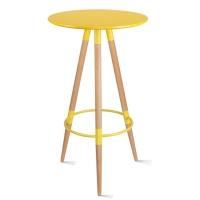 百思宜 酒吧小圆桌高脚伊姆斯桌子吧台咖啡桌 伊姆斯吧桌黄色
