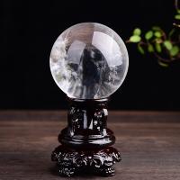 慈灵阁精品通透白水晶球摆件家居摆设工艺礼品饰品风水球 白色