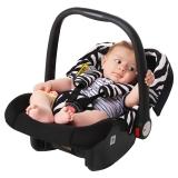 英国Zazababy婴儿安全提篮汽车安全座椅新生儿0-12个月 斑马纹