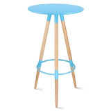 百思宜 酒吧小圆桌高脚伊姆斯桌子吧台咖啡桌 伊姆斯吧桌蓝色