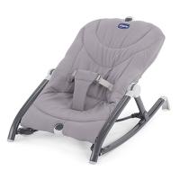 Chicco智高 宝宝躺椅新生儿摇篮安抚椅可折叠躺椅 智高轻便出行摇椅(灰色)CHIC07079825470000