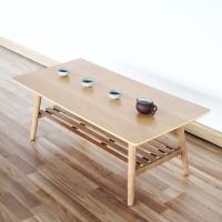慧乐家 茶几 京东配送小户型长方茶几边桌 现代简约飘窗桌炕几 日式创意客厅家具 白枫木色 33143