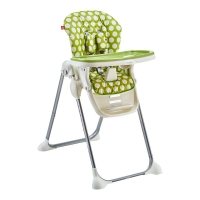gb好孩子儿童餐椅 多功能可折叠便携婴儿餐椅可坐可躺宝宝餐椅(7个月-36个月)绿色Y9806-H001G