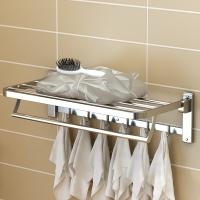 艾心依然 浴室挂架 304不锈钢毛巾浴巾架 手工双面拉丝 60cm