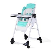 佳田(JUSTIN)豪华多功能折叠儿童餐椅H100 蒂芙尼蓝