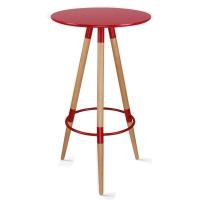 百思宜 酒吧小圆桌高脚伊姆斯桌子吧台咖啡桌 伊姆斯吧桌红色
