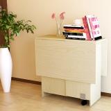 慧乐家 电脑桌 泊雅特可折叠多功能桌 小户型折叠餐桌 白枫木色11068-1