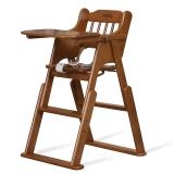 小硕士儿童餐椅实木可折叠宝宝婴儿吃饭椅多功能BB凳可摇可升降餐桌椅