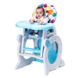 宝贝第一(Babyfirst) 宝宝餐椅儿童书桌QQ咪多功能折叠餐椅吃饭写字 糖果花