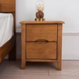 精邦 床头柜 双抽储物柜维多利亚实木床边柜WSC-015