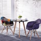 百思宜 洽谈桌餐桌北欧创意小圆桌现代简约咖啡厅餐饮店圆形桌子 三腿圆桌70cm黑色(不含椅子)