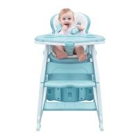 爱音(Aing)儿童餐椅 多功能分体组合椅/可变书桌躺椅/宝宝餐椅/ 婴儿餐椅学习桌C011薄荷蓝
