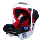 Zazababy婴儿安全提篮汽车安全座椅新生儿0-12个月 红黑色豪华版