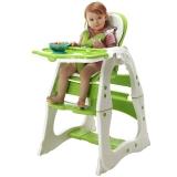 爱音(Aing)儿童餐椅 多功能分体组合椅/可变书桌躺椅/宝宝餐椅/ 婴儿餐椅学习桌C011果绿色