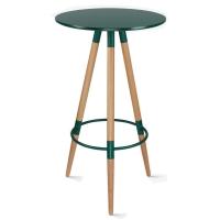 百思宜 酒吧小圆桌高脚伊姆斯桌子吧台咖啡桌 伊姆斯吧桌绿色