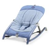 意大利chicco智高 高端轻便出行摇椅 可折叠摇篮躺椅新生儿安抚椅(蓝色)CHIC05079825510000
