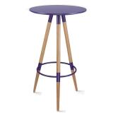 百思宜 酒吧小圆桌高脚伊姆斯桌子吧台咖啡桌 伊姆斯吧桌紫色