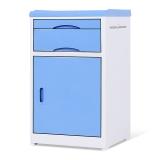 中伟医用床头柜病床专用ABS床头柜医院养老院专用420*450*740mm蓝色