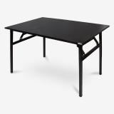 尼德(need)加大简约时尚可折叠电脑桌子 家用学习办公书桌 AC5CB (120*80) E1级环保无味 黑橡面黑腿