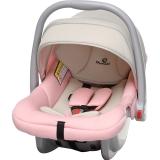 德国怡戈(Ekobebe) 婴儿提篮式儿童安全座椅EKO-007 适合0-15个月新生儿宝宝汽车车载手提篮 米粉色