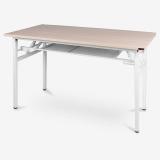 尼德(NEED)员工培训桌折叠长条电脑桌子 简约时尚现代会议长桌 AC7AW (120*60)-E1 粉橡面白腿