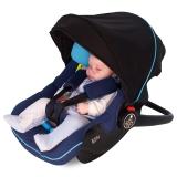 德国怡戈(Ekobebe) 婴儿提篮式儿童安全座椅EKO-007 适合0-15个月新生儿宝宝汽车车载手提篮 蓝黑色