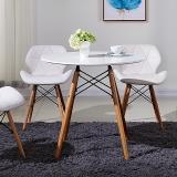 百思宜 咖啡桌现代简约休闲桌休息区餐桌接待洽谈桌 60cm圆桌 白色(不含椅子)