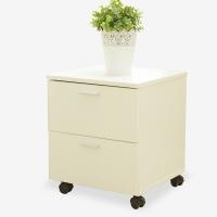 美达斯 储物柜 可移动抽屉柜地柜收纳柜文件柜 白色 11456