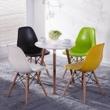 百思宜 洽谈桌餐桌北欧创意小圆桌现代简约咖啡厅餐饮店圆形桌子 三腿圆桌60cm白色(不含椅子)