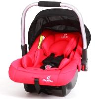 德国怡戈(Ekobebe) 新生婴儿提篮式汽车儿童安全座椅 0-15个月便携式车载手提篮 宝宝摇篮 EKO-003 红黑色