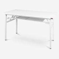 尼德(NEED)员工培训桌折叠长条电脑桌子 简约时尚现代会议长桌 AC7DW(120*60)-E1 暖白面白腿