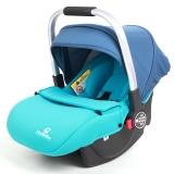 德国怡戈(Ekobebe) 新生婴儿提篮式汽车儿童安全座椅 0-15个月便携式车载手提篮 宝宝摇篮 EKO-003 正蓝色