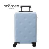 不莱玫巧克力系列PC拉杆箱万向轮旅行箱20英寸行李箱登机箱 磨砂蓝