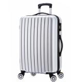 博兿(BOYI)万向轮拉杆箱28英寸男女士旅行箱轻盈行李箱 BY-72005银白色