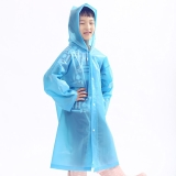 欣沁加厚款儿童雨衣户外旅行雨披 适合110-160CM儿童使用蓝色