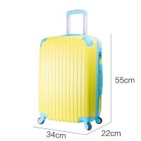 威路 20英寸拉杆箱 男女超轻静音万向轮登机箱 商务出差密码锁旅行箱 休闲旅游拉链行李箱 黄色