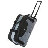 博兿(BOYI)拉杆包男23英寸大容量旅行包户外手提休闲拉杆袋 BY09186黑灰色