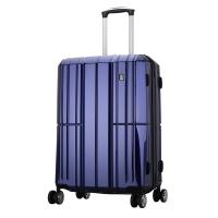 爱华仕(OIWAS)PC拉杆箱6176 时尚万向轮行李箱 飞机轮旅行箱商务出差登机箱 20英寸蓝色
