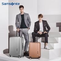 新秀丽(Samsonite) NOVAE时尚拉杆箱 万向飞机轮男女旅行箱登机箱行李箱TQ9*25002 28英寸拉丝银