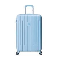 法国大使牌(Delsey)经典马卡龙拉杆箱25英寸ABS旅行箱可扩容行李箱男女万向轮冰蓝色882