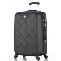 博兿(BOYI)拉杆箱男女万向轮旅行箱26英寸行李箱 ABS钻石纹系列 BY62003黑色