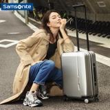 新秀丽(Samsonite) NOVAE时尚拉杆箱 万向飞机轮男女旅行箱登机箱行李箱TQ9*25001 20英寸拉丝银