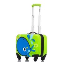 银座(GNZA)L-1505-1 儿童拉杆箱万向轮 3D可爱旅行箱 学生登机箱18英寸绿色