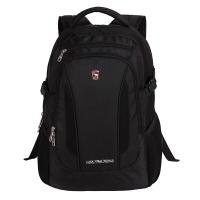 爱华仕(OIWAS)时尚商务双肩包 防泼水笔记本电脑包14英寸 男休闲背包书包 4140黑色