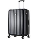 爱华仕(OIWAS)飞机轮拉杆箱6182 商务出差旅行箱 大容量休闲旅游托运箱24英寸黑色